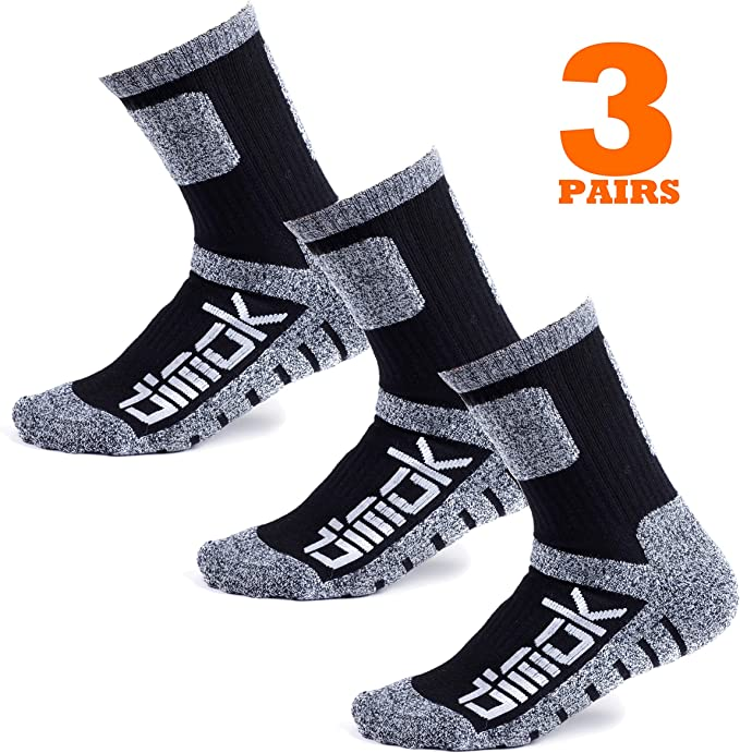 Warm Socks for Men Hockey Hiking Winter Athletic Moisture Wicking Sports Crew Work Socks Mens Women 3 pack