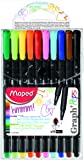 Maped Graph'Peps Felt Tipped Pens, Assorted Colors, Pack of 10 (749150)