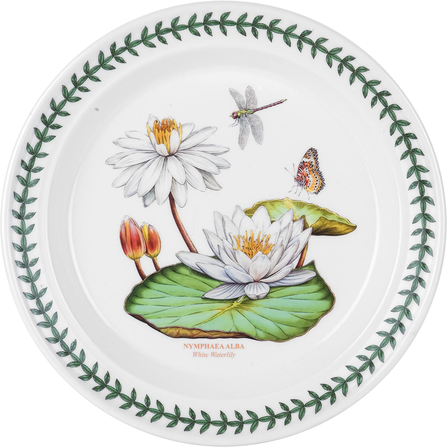 Portmeirion Exotic Botanic Garden Dinner Plate with White Water Lily Motif