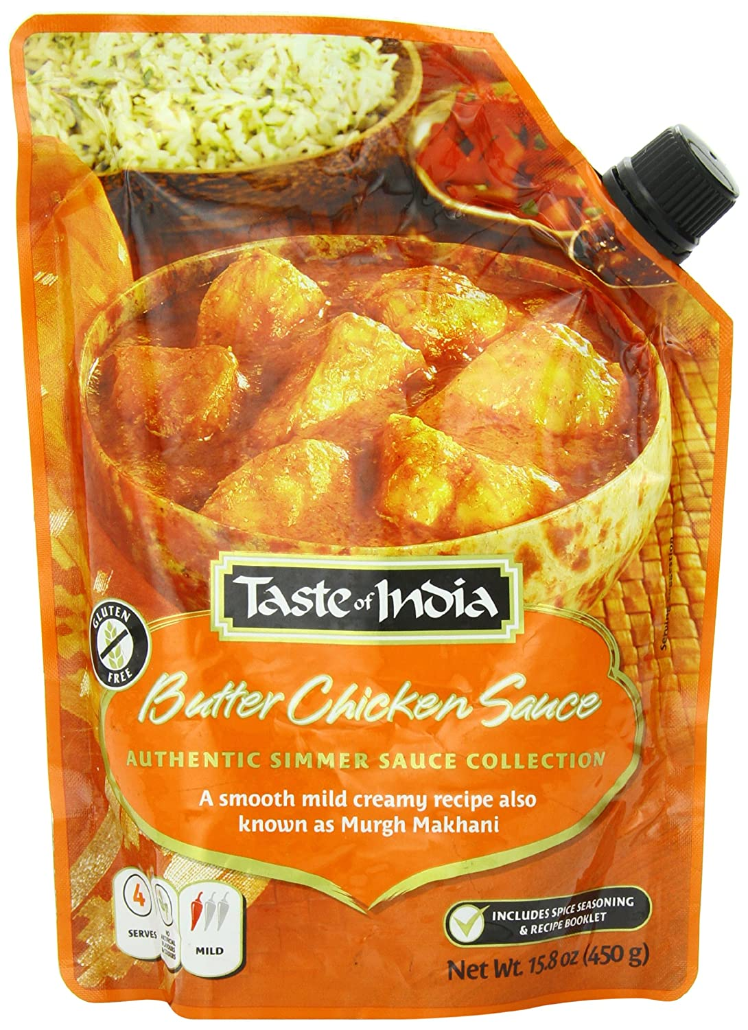 Amazon com   Taste of India Butter Chicken Sauce  15 8 Ounce  Pack of 6     Curry Sauces   Grocery   Gourmet FoodAmazon com   Taste of India Butter Chicken Sauce  15 8 Ounce  Pack  . Amazon Kitchens Of India Butter Chicken. Home Design Ideas