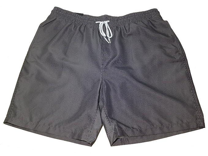 Kirkland Mens Grey Striped Draw String Swimming Trunks Bathing Suit X Large