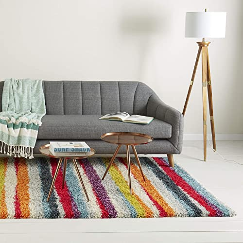 Home Dynamix Christian Siriano New York Montana Rogers Striped Shag Area Rug