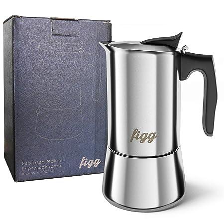 figg Cafetera Italiana de Acero Inoxidable Apta para ...