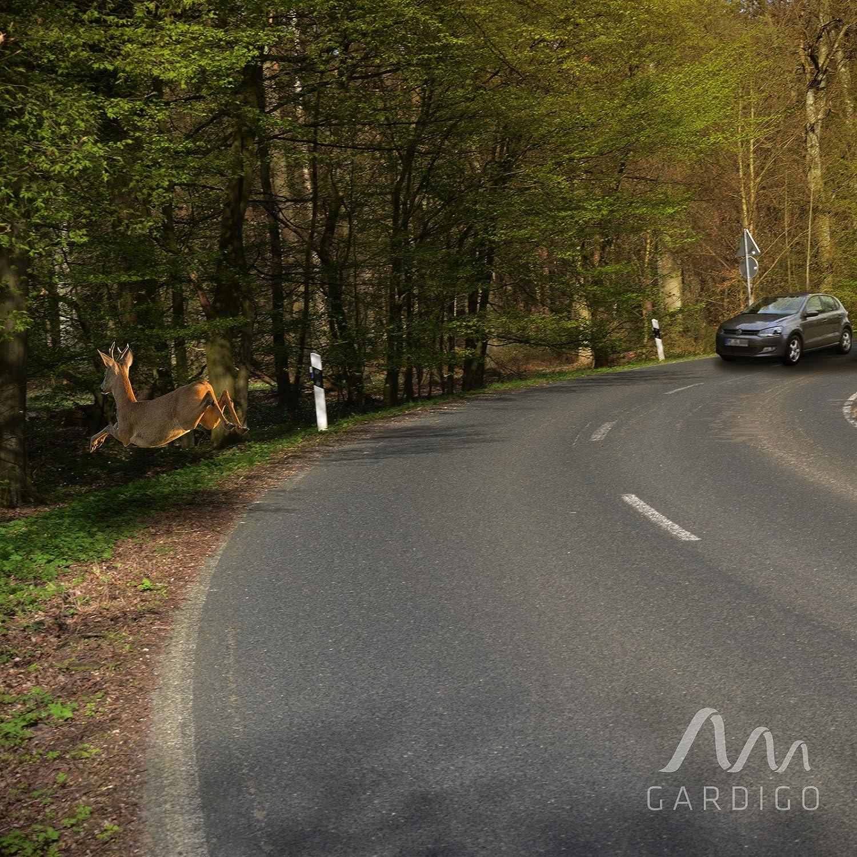 Gardigo Wildwarner 2er Set f/ü r Kfz, Auto, PKW, Motorrad   Zum Schutz vor Wildunfall und Wildschaden   Wildpfeife gegen Wild   Deutscher Hersteller
