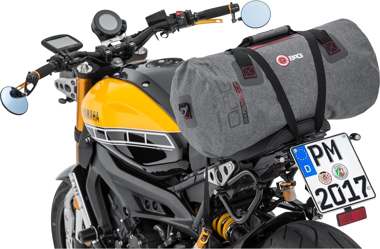 Motorrad Gep/äckrolle 50 Liter Stauraum schwarz robust QBag Motorrad-Hecktasche Gep/äckrolle Motorrad wasserdicht Rolle wasserdicht 03 Motorradtasche wasserdicht