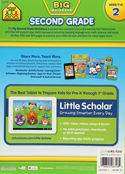 Amazon.com: Second Grade Big Workbook (7544580249242): School Zone ...
