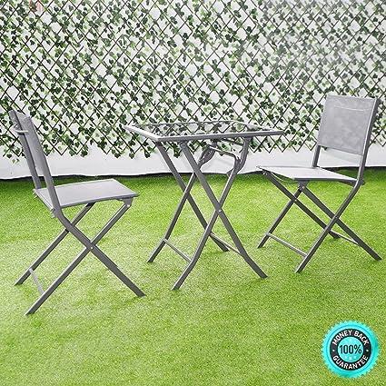 Amazon.com: skemidex – -- 3 pcs juego de muebles de jardín ...