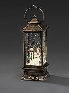 Konstsmide LED farol con nieve hombres, relleno de agua, 1 Diodo blanco, funciona con pilas, interior, 3 x AA 1,5 V no 2889-000