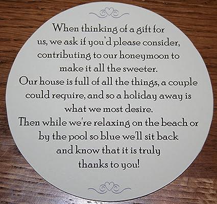 Wedding Money Request Poems For Your Honeymoon Round 50 Amazon