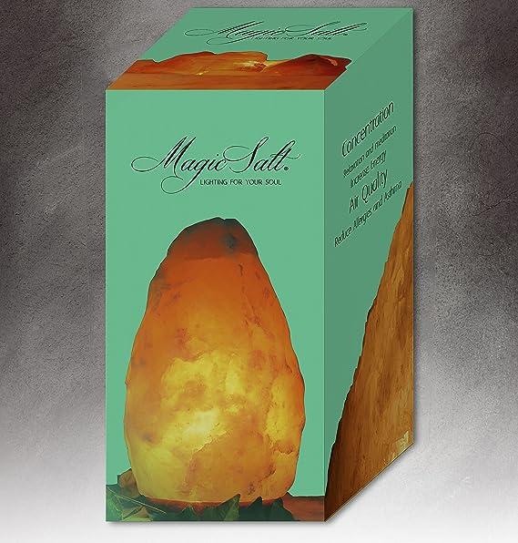 Lámpara de sal del Himalaya, 4-6 kg MAGIC SALT LIGHTING FOR YOUR SOUL