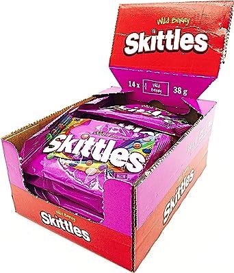 Skittles Wild Berry Bolos dulces Pack de 14 x38g Bags (Pack de 14 ...