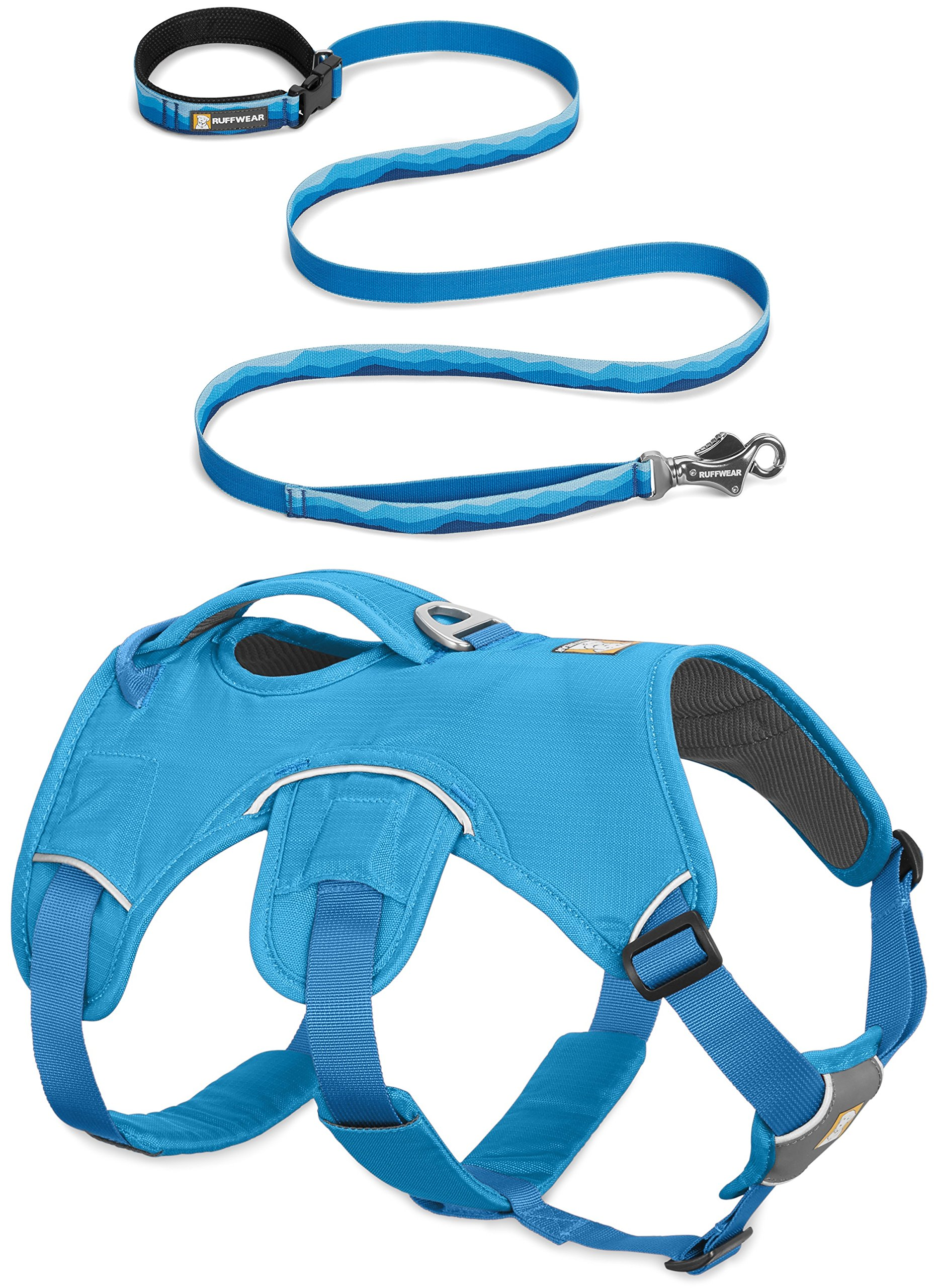 RUFFWEAR NEW 2017 BLUE WEB MASTER DOG HARNESS ♦ SECURE REFLECTIVE SUPPORTIVE MULTI USE ♦ ALL SIZES (Small)