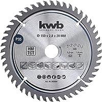 kwb 583568 precision snickare cirkelsågblad, trä/hårdträssågblad, 150 x 20 mm fina snitt, högt nummer, 48 tänder Z-48