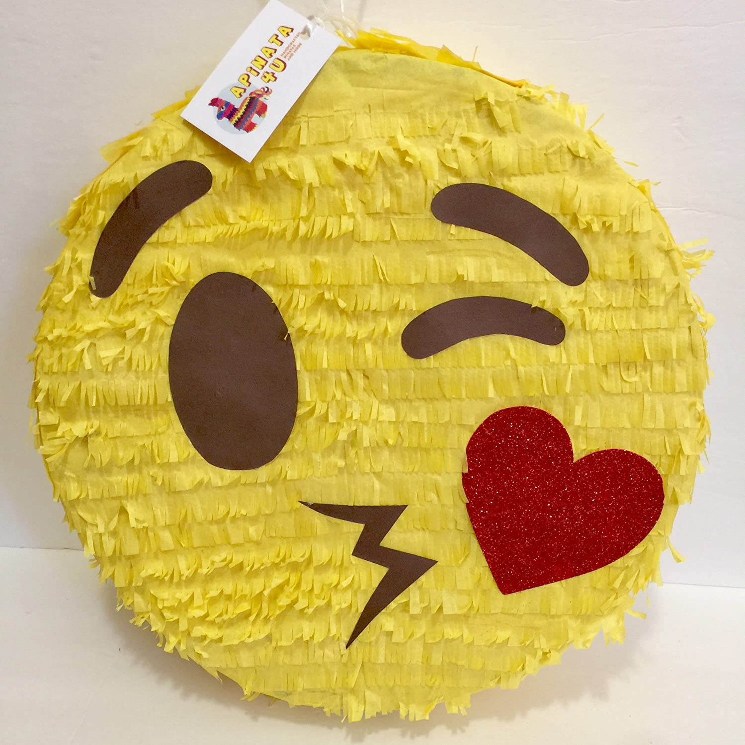 Flirty Kiss Face Emoji Pinata