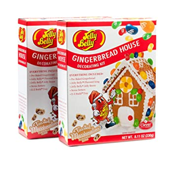 Amazon diy do it yourself jelly belly christmas village diy do it yourself jelly belly christmas village gingerbread mini house 2 box solutioingenieria