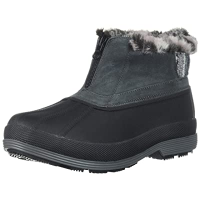 Propet Women's Lumi Ankle Zip Snow Boot, Grey, 11 2E US | Ankle & Bootie