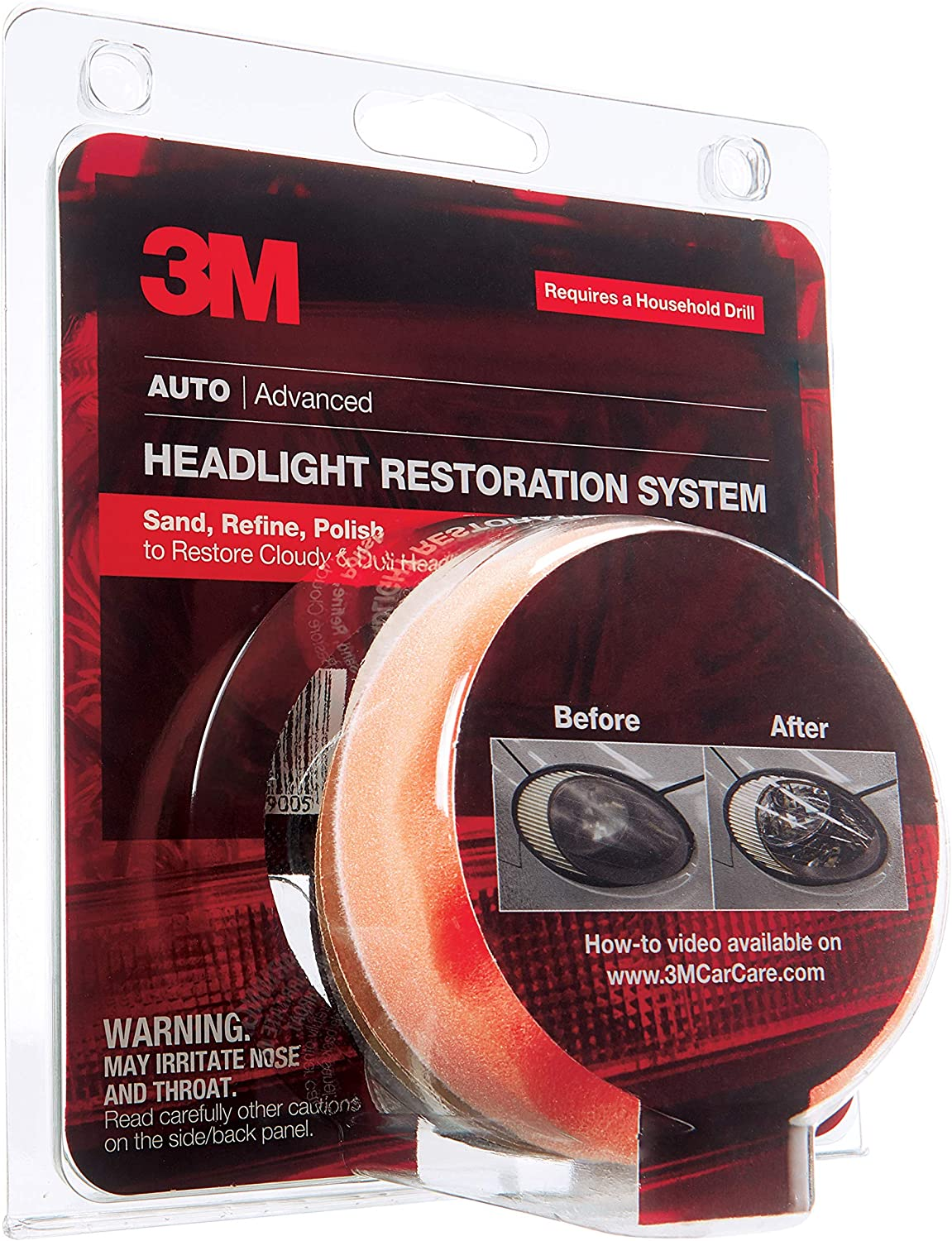 3M Headlight Lens Restoration System, 39008 91YYoWs2BysL