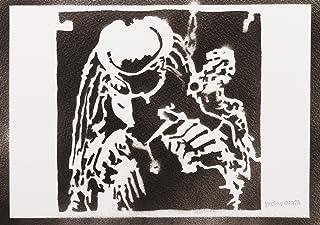 Poster Predator Yautja Handmade Graffiti Street Art - Artwork
