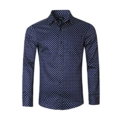 Men S White Navy Polka Dot Print Modern Exclusive American Breed Ab302 1sts Stretch