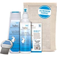 Babo Botanicals Essential Lice Prevention Set with Lice Comb, 16 Ounce