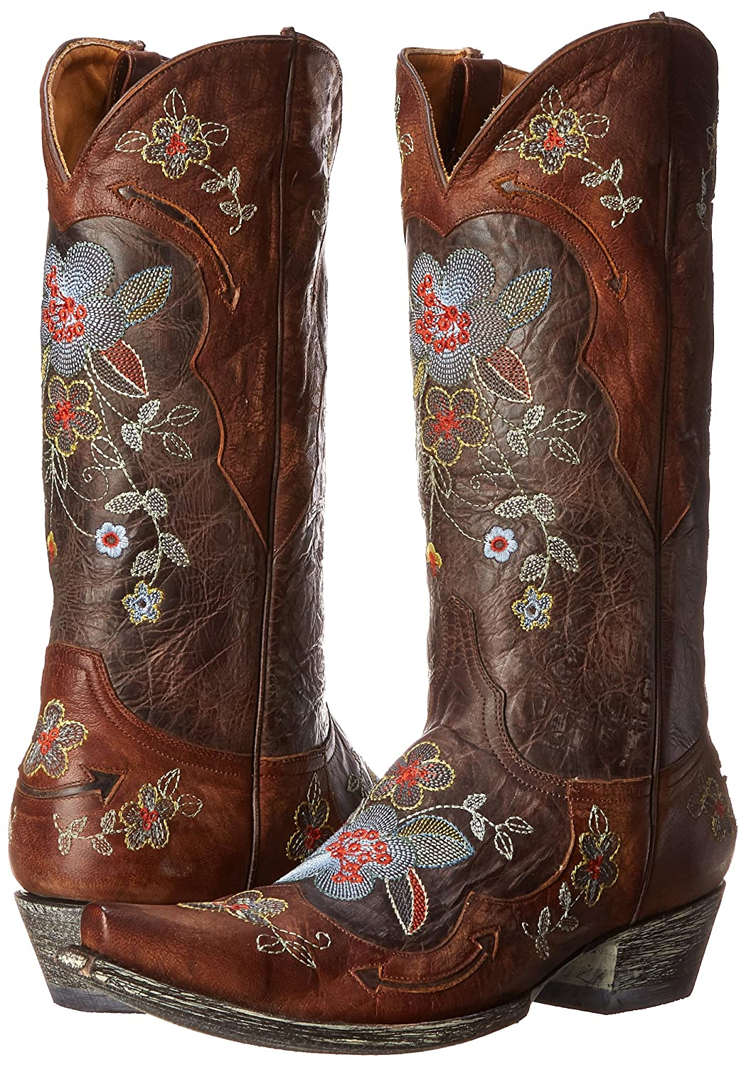 Old Gringo Women's Bonnie Western Boot B0059NUQ48 8.5 B(M) US|Chocolate/Brass