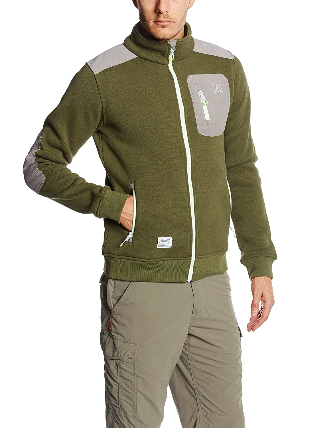 2117 of Sweden Herren Strickfleece Jacke Nödinge