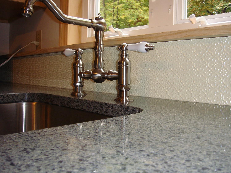 - Amazon.com: TIN Silver Plastic Kitchen Backsplash Wc-20 Wall