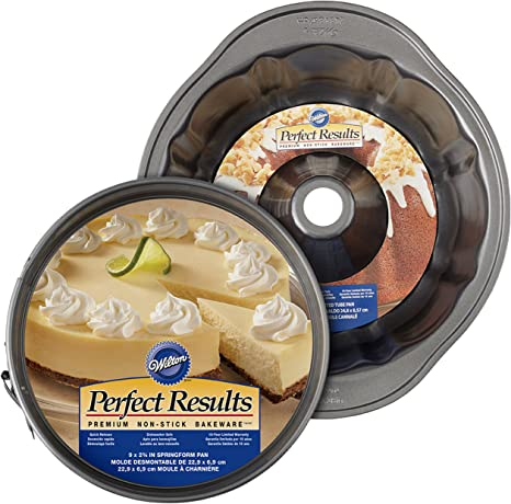 Wilton Perfect Results Non-Stick Fluted Tube and Springform Pan Brunch Set, 2-Piece