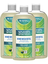 Seventh Generation Hand Wash Refills, Free & Clean unscented, 24 oz, 3 Pack