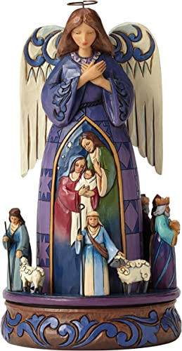 Heartwood Creek by Jim Shore Rotating Nativity Angel Stone Resin Figurine