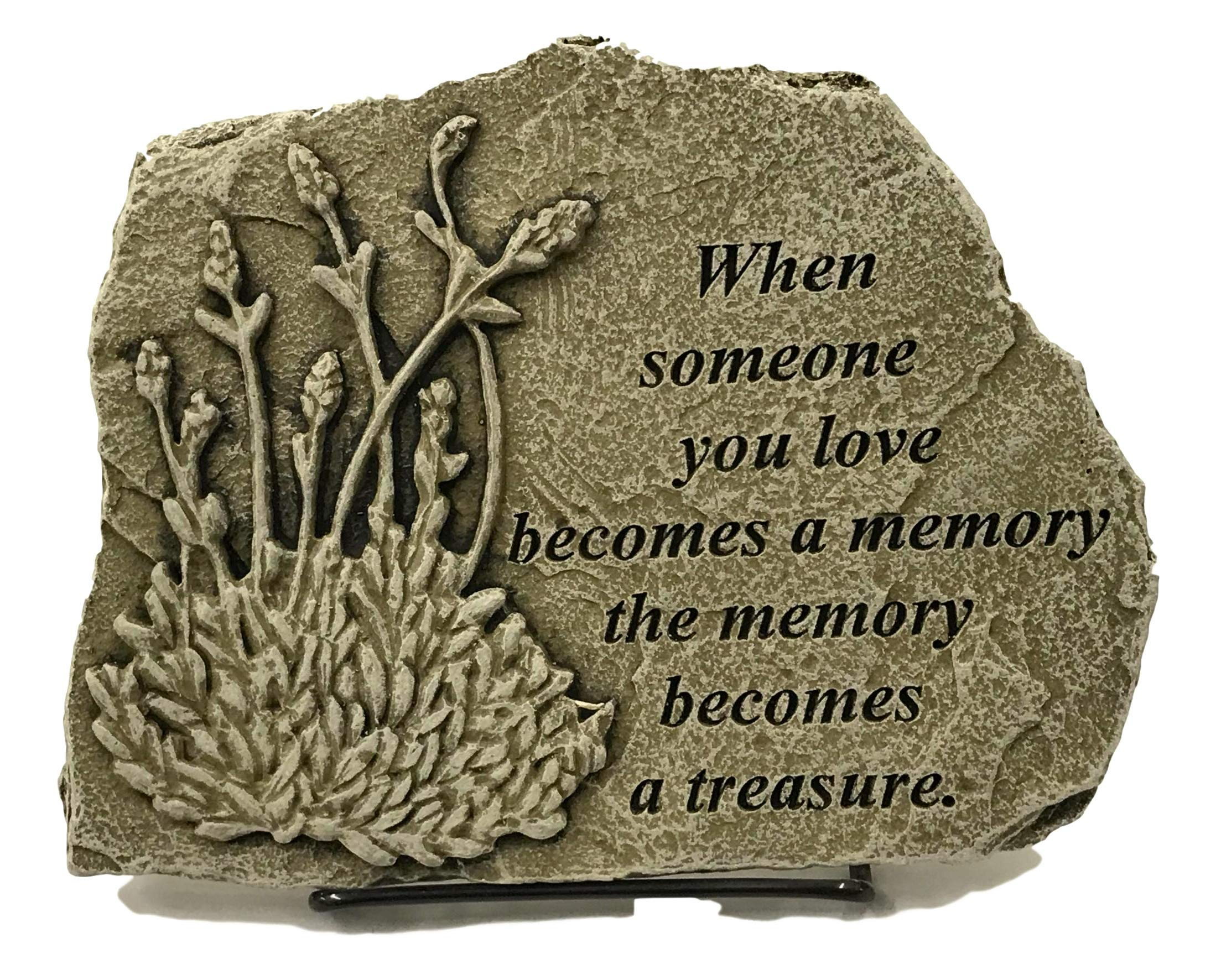 Kay Berry When Someone You Love Becomes a Memory; Sympathy Gift Memorial Stone 8x10 OWW; Stand Included