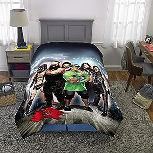 "Franco Kids Bedding Soft Microfiber Reversible Comforter, Twin/Full Size 72"" x 86"", WWE Super Stars"