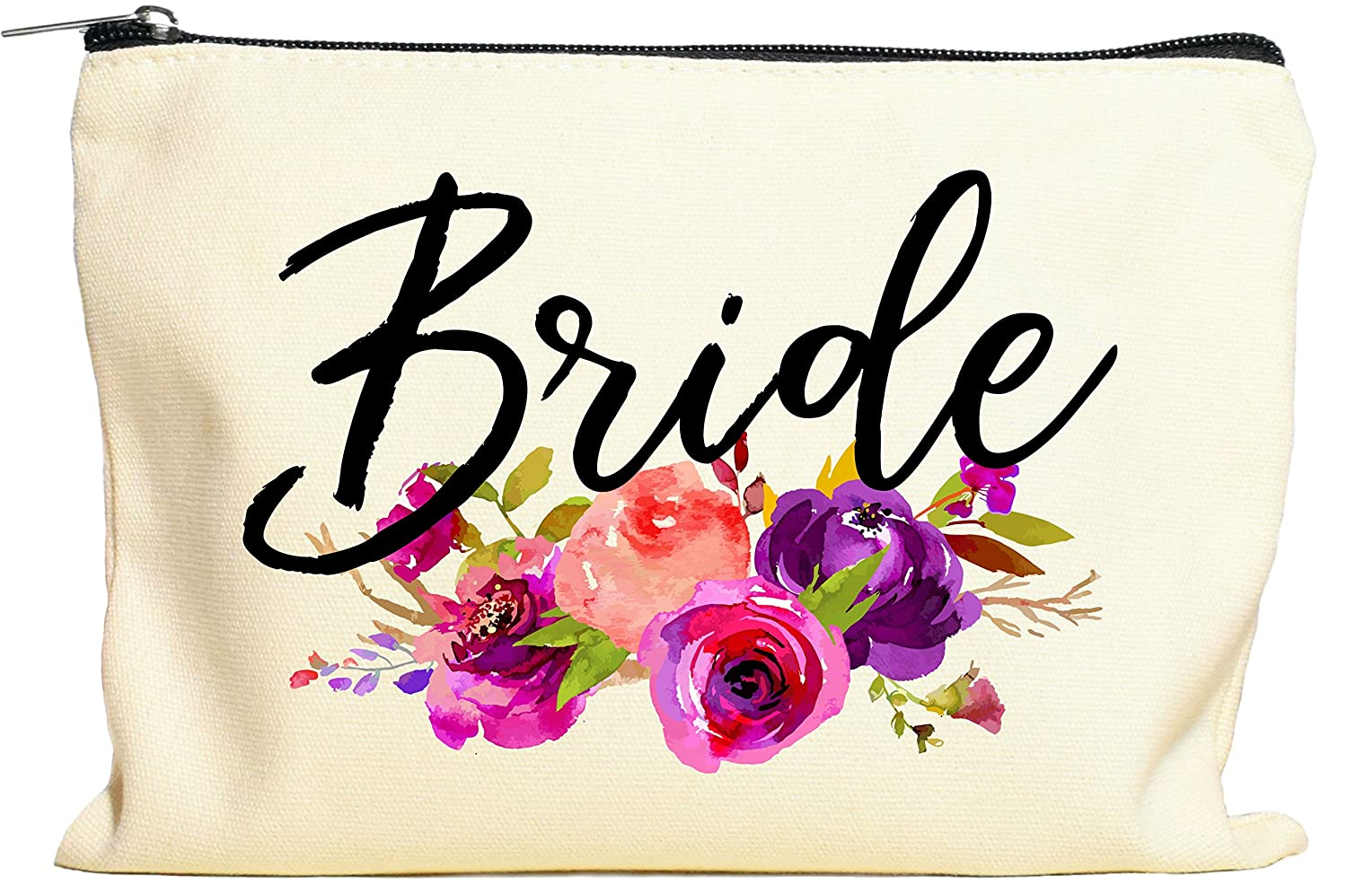 Bride Makeup Bag, Bride Gift, Bride Cosmetic Bag, Engagement Gift, Bride Gift Bag, Miss To Mrs, Bridal Shower, Engagement Gift