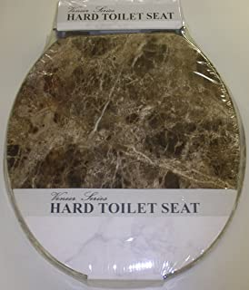 gold foil toilet seat. dynamix vmr-500 veneer marble toilet seat, 17-inch, standard round brown gold foil seat h