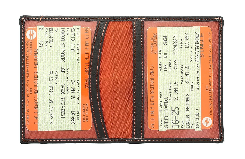 Mala Leather ODYSSEY Porte-carte de Voyage en Cuir Souple 555_14 Fuchsia