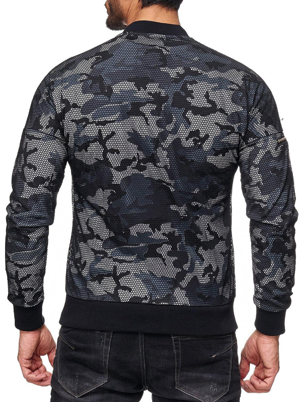 Redbridge Hommes Manche Longue Veste Longue Manteau Camouflage Armée Blouson Parka Noir