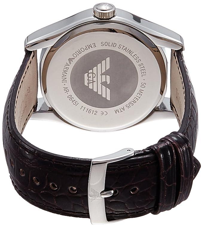 Amazon.com: Emporio Armani Mens AR0645 Classic Brown Leather Roman Numeral Dial Watch: Armani: Watches