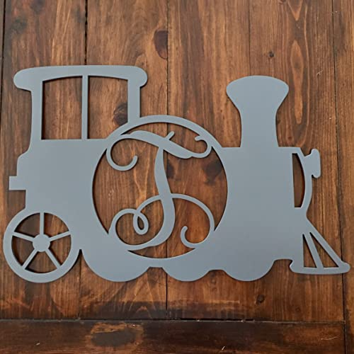 Amazon.com: Monogram Train Nursery Wall Hanger - Kid\'s Room Decor ...