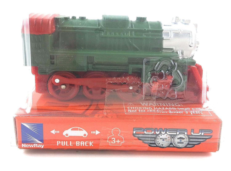 Newray Mini 6.4cm Green Red Locomotive Pull Back Action Train B071XDQF7N