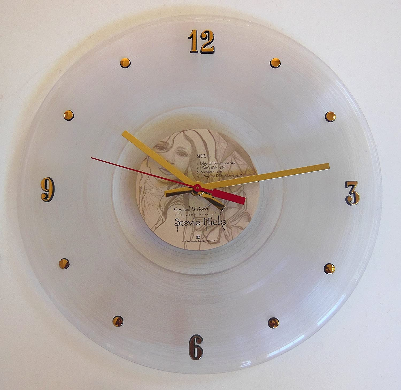Amazon record clock stevie nicks crystal visions the best amazon record clock stevie nicks crystal visions the best of stevie nicks handmade 12 wall clock created with the original stevie nicks clear amipublicfo Choice Image