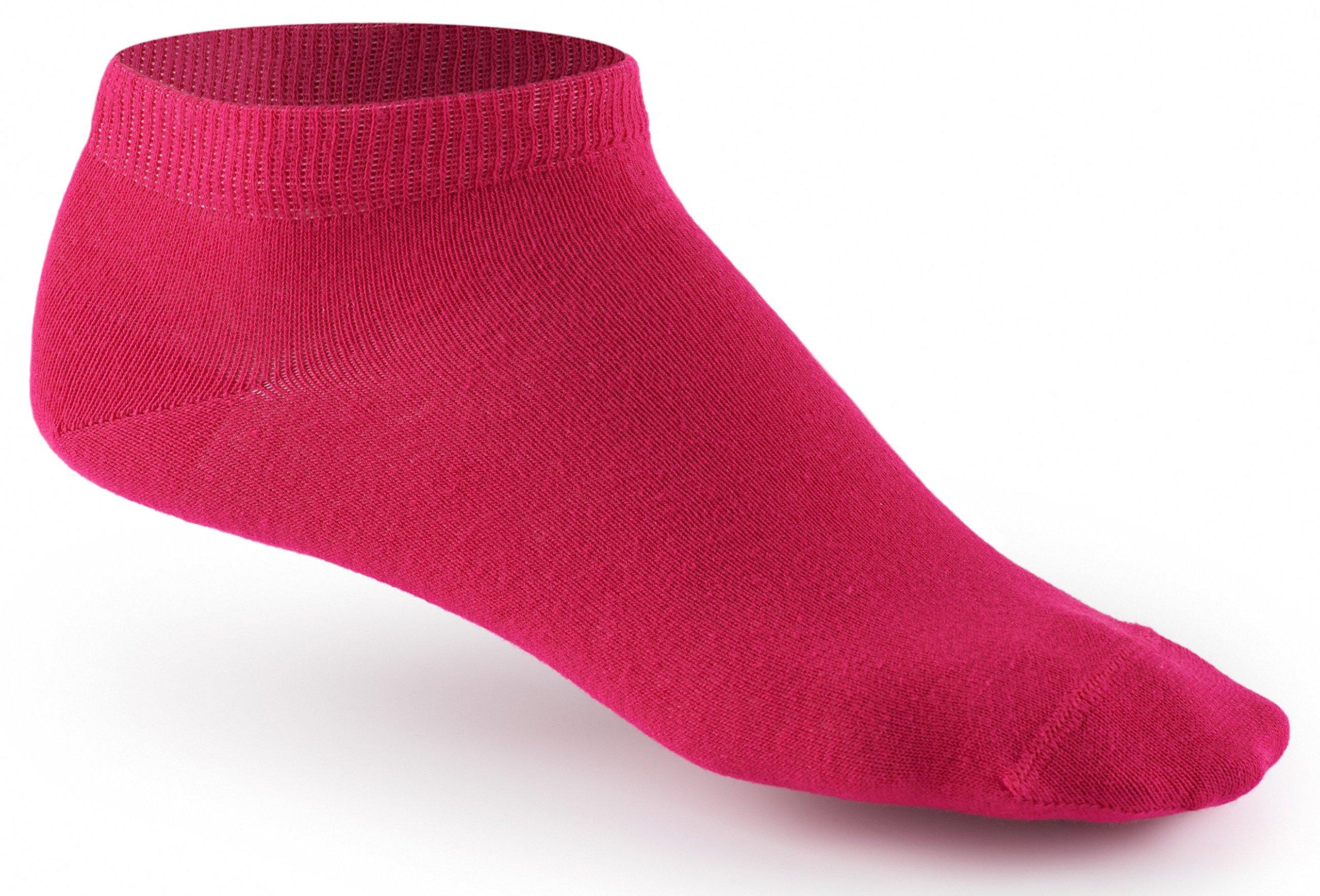 10 Paar Sneaker Socken von Mat & Vic\'s für Sie und Ihn - Cotton classic - 35 36 37 38 39 40 41 42 43 44 45 46 47 48 49 50 - bequem ohne drückende Naht - angenehmer Komfort-Bund - entspricht OEKO-TEX Standard 100 (35-38, Berry Colors / rosa
