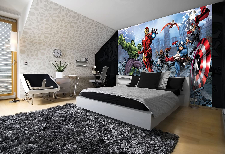 marvel avengers assemble comic wallpaper mural amazon com