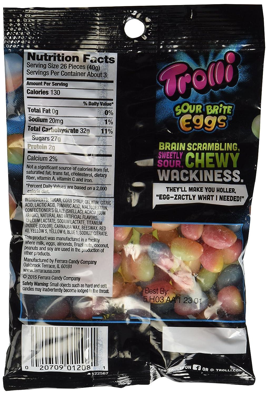 dc745b7ea77 Amazon.com   Trolli Sour Brite Crawler Eggs Gummi Candy - 4 Oz Bag    Grocery   Gourmet Food