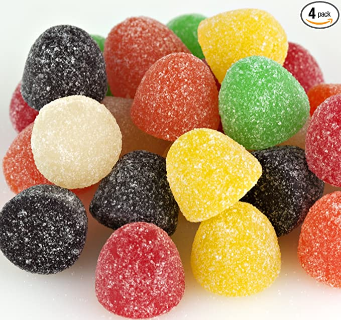 Amazon Com Assorted Large Gumdrops Candy 1 2 Lb Bag Pack Of 4 Grocery Gourmet Food