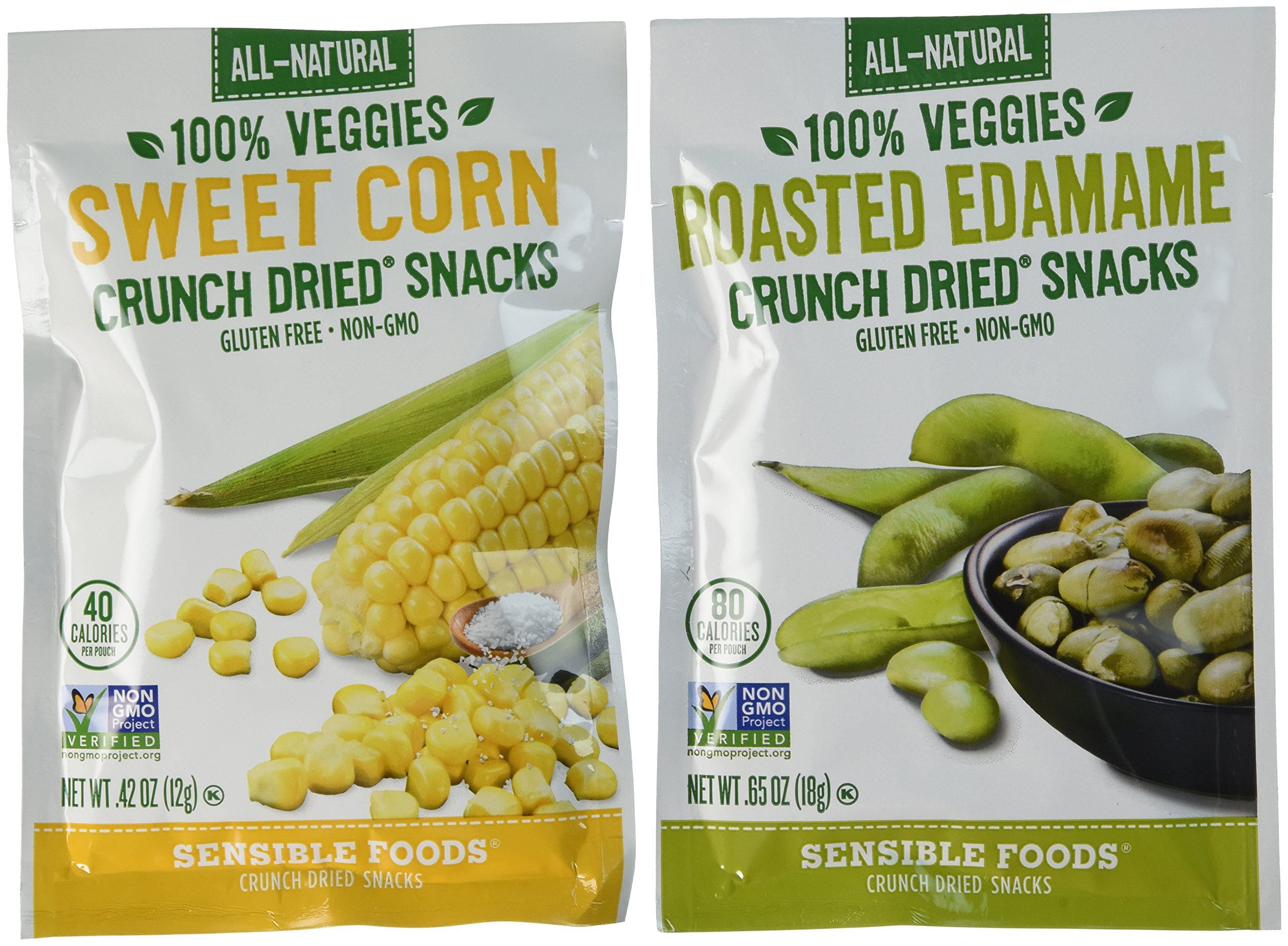 Sensible Foods Veggie Variety Pack, Corn/Edamame, 20 Count
