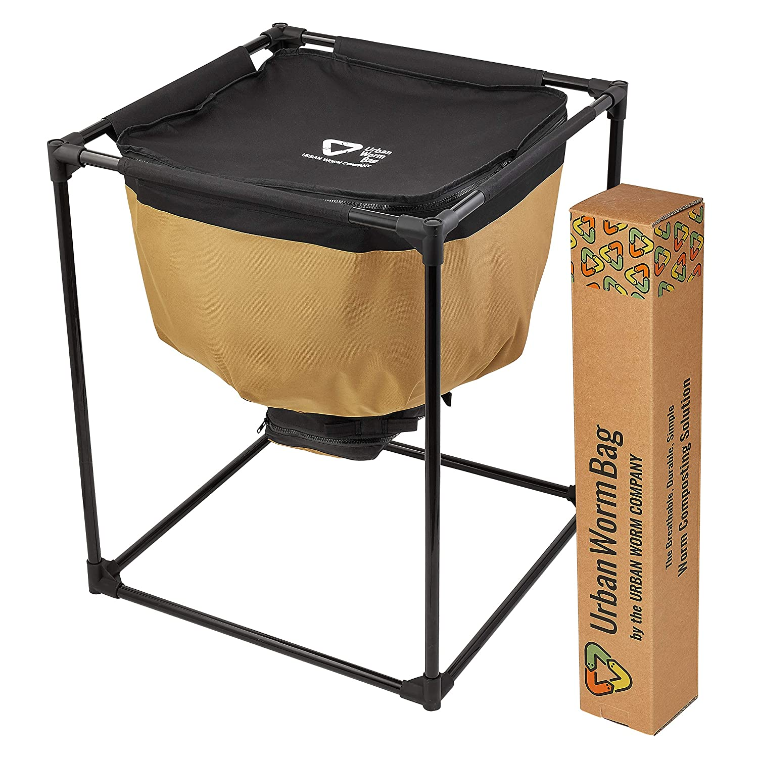 Urban Worm Bag Worm Composting Bin Version 2 - Breathable Worm Farm is Perfect for Recycling Organic Waste in Your Home, School, or Office Urban Worm Company 4335523781