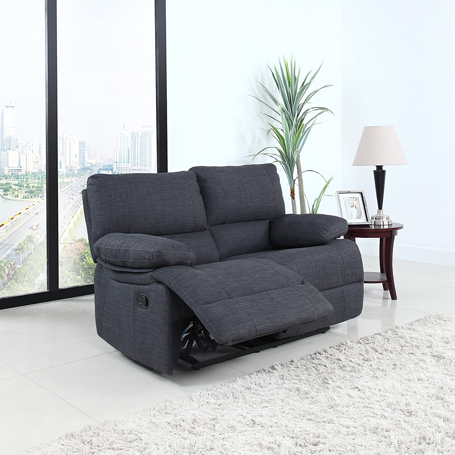 amazon com classic and traditional dark grey fabric oversize