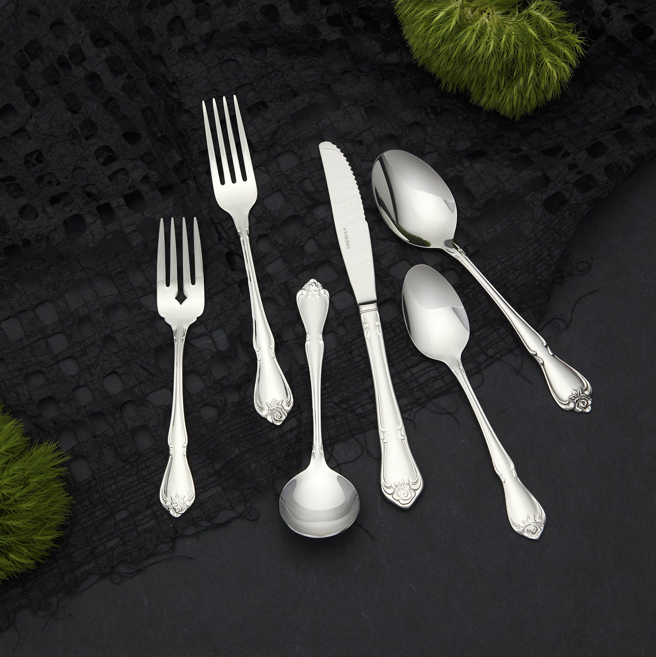 Oneida Foodservice 2552KPVF Arbor Rose Dinner Knives, 18/10 Stainless Steel, Set of 36
