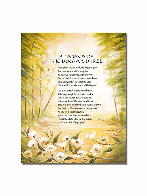 picture relating to Legend of the Dogwood Tree Printable known as Legend of the Dogwood Tree Christian Spiritual Wall Envision 8x10 Artwork Print