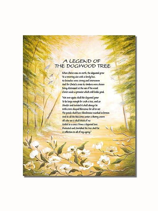picture regarding Legend of the Dogwood Tree Printable named Legend of the Dogwood Tree Christian Spiritual Wall Envision 8x10 Artwork Print